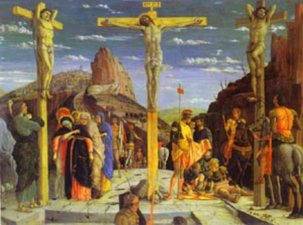 calvary center of the predella painted for the church of san zeno in verona 1457 60 XX louvre paris france